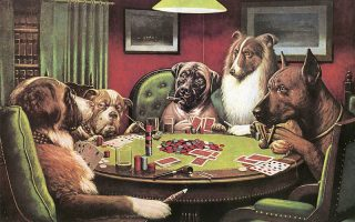 coolidge dogs playing cards