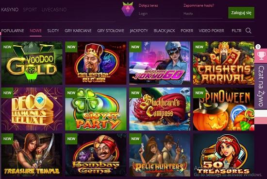 Nowe gry kasyna online Malina