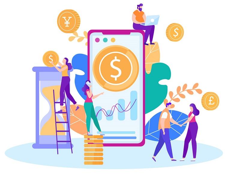 Time Money Management Online Control Flat Banner